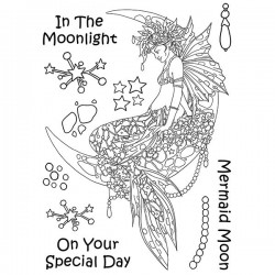 (LCMC002)The Card Hut Mythical Creatures: Mermaid Moon Clear Stamps