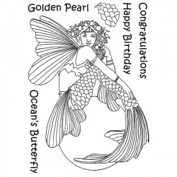 (LCMC003)The Card Hut Mythical Creatures: Golden Pearl Clear Stamps