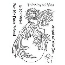 (LCMC004)The Card Hut Mythical Creatures: Black Pearl Clear Stamps