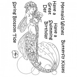 (LCMC005)The Card Hut Mythical Creatures: Spring Blossom Tide Clear Stamps