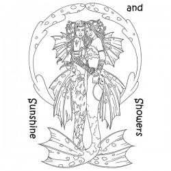 (LCMC008)The Card Hut Mythical Creatures: Sunshine and Showers Clear Stamps