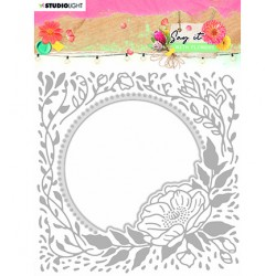 (SL-SWF-EMBCD12)Studio Light SL Emb. Folder & Cutting Die Say it with flowers nr.12