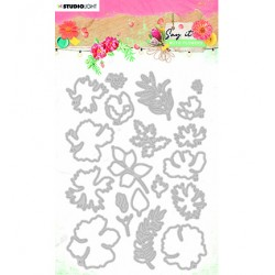 (SL-SWF-CD402)Studio Light SL Cutting & Emb. Die Say it with flowers nr.402