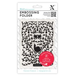 (XCU515901)Embossing Folders A6 12 Days of Christmas-Tree