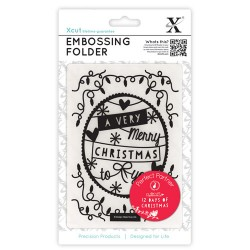 (XCU515902)Embossing Folders A6 12 Days of Christmas-Banner
