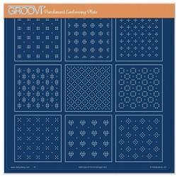 (GRO-GG-41732-24)Groovi Plate A4 JOSIE'S STRAIGHT EMBOSSED PATTERN