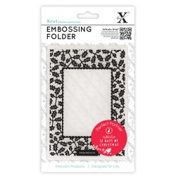 (XCU515903)Embossing Folders A6 12 Days of Christmas-Holly