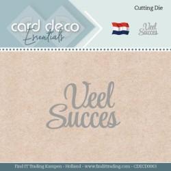 (CDECD0063)Card Deco Essentials - Dies - Veel Succes