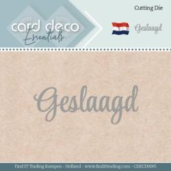 (CDECD0065)Card Deco Essentials - Dies - Geslaagd