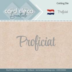 (CDECD0066)Card Deco Essentials - Dies - Proficiat