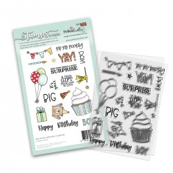 (PD8135)Polkadoodles Big Birthday Surprise Clear Stamps