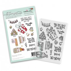 (PD8136)Polkadoodles Sweet Birthday Clear Stamps