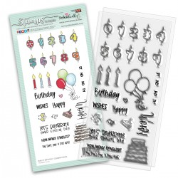 (PD8137)Polkadoodles Birthday Celebrations Clear Stamps