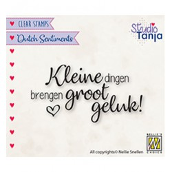 (SENC015)Nellie's Choice Clear stamps Kleine dingen brengen groot geluk