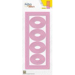 (MFD141)Nellie's Multi frame Block Slimline Die Ovals