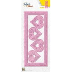 (MFD142)Nellie's Multi frame Block Slimline Die Hearts