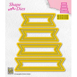 (SD202)Nellie's shape dies Set of 4 tags-1