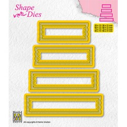 (SD203)Nellie's shape dies Set of 4 tags-2