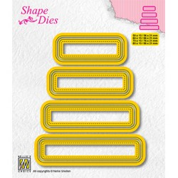 (SD204)Nellie's shape dies Set of 4 tags-3