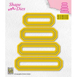 (SD205)Nellie's shape dies Set of 4 tags-4