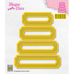 (SD206)Nellie's shape dies Set of 4 tags-5