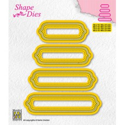 (SD207)Nellie's shape dies Set of 4 tags-6