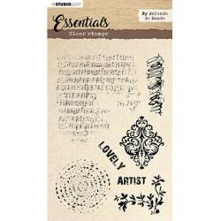 (STAMPBJ01)Studio light Stamp Essentials By Jolanda de Ronde nr.1