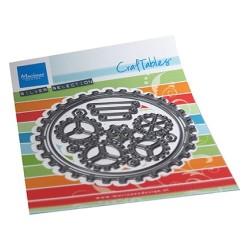 (CR1548)Craftables Gears doily