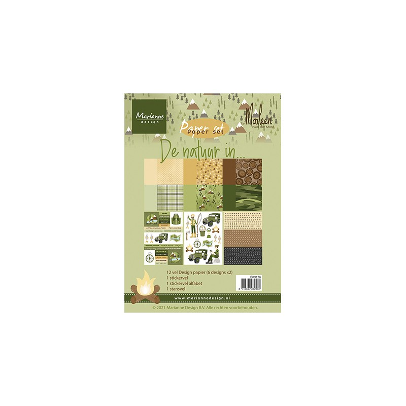 (PK9176)Pretty Papers bloc A5 De natuur in by Marleen