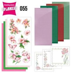 (SPDO055)Sparkles Set 55 - Jeanine's Art - Pink Flowers