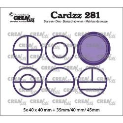 (CLCZ281)Crealies Cardzz Elements Circles 5x 40 x 40 mm