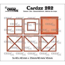 (CLCZ282)Crealies Cardzz Elements Squares 5x 40 x 40 mm