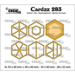 (CLCZ283)Crealies Cardzz Elements Hexagons 5x 35 x 40 mm