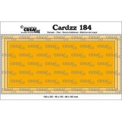 (CLCZ184)Crealies Cardzz Slimline D stitch 10,0x20,5cm