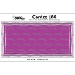 (CLCZ186)Crealies Cardzz Slimline F Cross stitch max. 10 x 20,5 cm