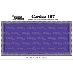 (CLCZ187)Crealies Cardzz Slimline G Small circles max. 10 x 20,5 cm