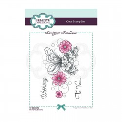 (UMSDB043)Creative Expressions Clear stamp Designer boutique Butterfly Blooms