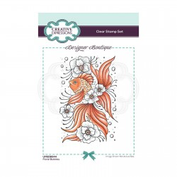 (UMSDB044)Creative Expressions Clear stamp Designer boutique Floral Bubbles