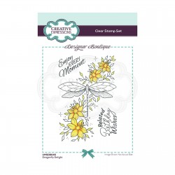 (UMSDB045)Creative Expressions Clear stamp Designer boutique Dragonfly Delight