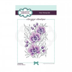 (UMSDB046)Creative Expressions Clear stamp Designer boutique Orchids In Bloom