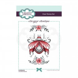(UMSDB048)Creative Expressions Clear stamp Designer boutique Jewelled Beetle