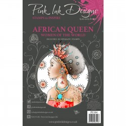 (PI104)Pink Ink Designs Clear stamp set African queen