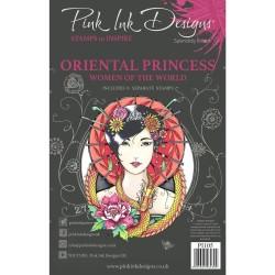 (PI105)Pink Ink Designs Clear stamp set Oriental princess