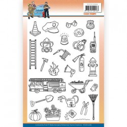 (YCCS10066)Clear Stamps - Yvonne Creations - Big Guys Professions