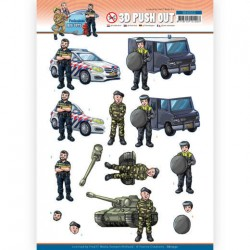 (SB10552)3D Push Out - Yvonne Creations - Big Guys Professions - Police