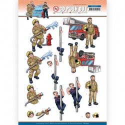 (SB10553)3D Push Out - Yvonne Creations - Big Guys Professions - Fire department