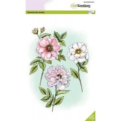 (3005)CraftEmotions clearstamps A5 - Roses and branches GB Dimensional stamp