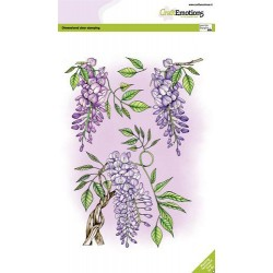 (3006)CraftEmotions clearstamps A5 - Wisteria GB Dimensional stamp