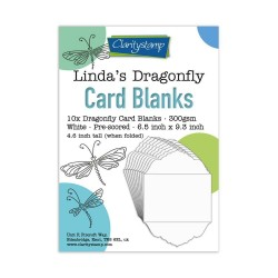 (ACC-CA-31140-XX)LINDA'S DRAGONFLY CARD BLANKS PACK OF 10