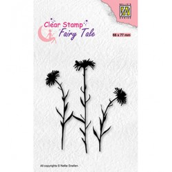 (FTCS031)Nellie's Choice Clear Stamp Fairy Tale, Flower-1
